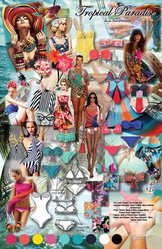 Tropical Paradise - Swim Wear Mini Collection. Spring/Summer 2014.