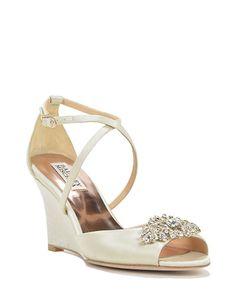 Abigail Satin Wedge Evening Shoe