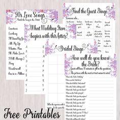 the ultimate pinterest party week 104 free printable bridal shower games disney love songs