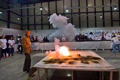 Cai Guo-Qiang Gunpowder | cai studio cai guo qiang during a gunpowder test in doha