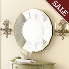 Ballard's Bellesol Mirror.  Love it.  Thinking about it for living room.