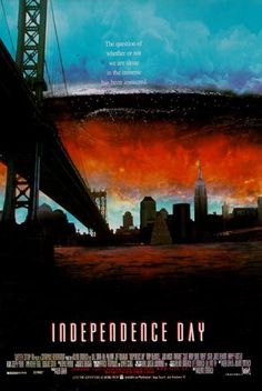 Independence Day, In my opinion the last great alien invasion film done in the spirit of the alien sci-fi/horror films o Movie Talk, Love Movie, Jojo Movies, Independence Day 1996, Sci Fi Horror, Horror Films, Science Fiction, Action Movie Poster, Really Good Movies