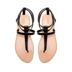 75d9e621eead55 FLAT THONG SANDALS WITH BUCKLE - Shoes - Woman