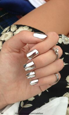 shiny gold nails...beauty and cosmetics (makeup)