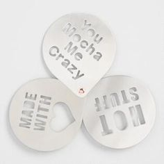 Stainless Steel Coffee Stencils Set of 3