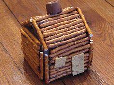 Pretzel Log Cabin Craft - Log Cabin Crafts for Kids - Presidents' Day Kids' Crafts - Kaboose.com