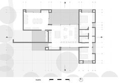 House-Workshop for an Artist,Ground Floor Plan Workshop Architecture, Architecture Plan, Residential Architecture, Best House Plans, Modern House Plans, Casa Patio, Workshop Plans, Plan Drawing, Ground Floor Plan