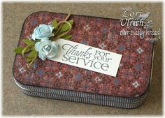 Tutorial - An altered Altoid Tin using ODBD's Fellowship Sentiments and Sweet William Small