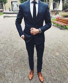 Groomsmen suits, navy blue suit, blue mens suit wedding, navy suit groom, r Blue Suit Men, Royal Blue Suit, Men's Navy Suits, Blue Mens Suit Wedding, Suit For Men, Navy Blue Groomsmen, Wedding Navy, Navy Blue Suit, Men's Fashion Styles