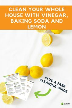 Clean your home with these simple, all natural ingredients. http://earth911.com/living-well-being/health/cleaning-vinegar-baking-soda-lemon/?utm_source=Pinterest&utm_medium=Social&utm_campaign=Pinterest