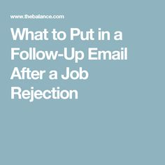 Free Sample JobSeeker FollowUp Letter After Rejection Without