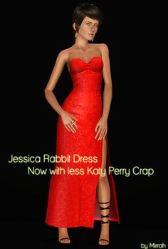 pdate - Jessica Rabbit dress from the Katy Perry stuff pack By Mirrah