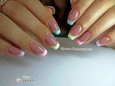 Ideas For Nails French Art Glitter Gel Nail Art, Nail Manicure, Acrylic Nails, French Nail Art, French Tip Nails, Gel Nagel Design, May Nails, Pretty Nail Art, Minimalist Nails