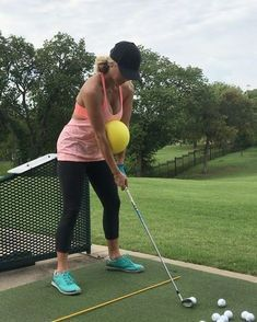 "VIDOE - 1,671 Likes, 57 Comments - Lauren Olaya (@laurenolaya) on Instagram: ""I really do think this ball I found in my closet works! Go figure #golf #drills #golfdrills"""