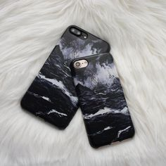 Marble Case for iPhone 7 Plus - Black - Elemental Cases - - 2