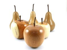 Wood turned Apple made from Cherry Hand by SilvanWoodturning Wood Turning Lathe, Wood Turning Projects, Wooden Art, Wooden Crafts, Lathe Projects, Fun Projects, Wood Supply, Wood Vase, Woodworking Lathe