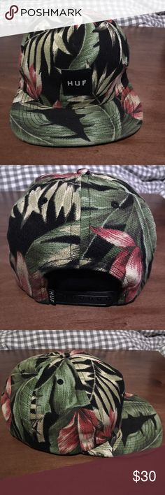 Huf cap snapback Tropical design. 8 10 condition HUF Accessories Hats 5bc726e90b2