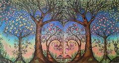 Owl In Forest Images Trees - - Yahoo Image Search Results Enchanted Forest Book, Enchanted Forest Coloring Book, Enchanted Garden, Secret Garden Coloring Book, Coloring Book Art, Adult Coloring, Johanna Basford Secret Garden, Tree Of Life Art, Johanna Basford Coloring Book