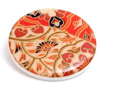Acrylic Brooch Round Resin Modern Moroccan Kasbah by Jackdaw, $22.00