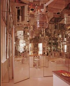 69f3b59bf303 Mirrored Powder Room by David Hicks