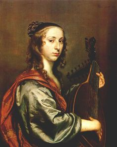 Johannes Mijtens (Dutch, c. 1614-1670). Lady playing the lute, 1648. National Gallery of Ireland, Dublin
