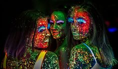 Luz Negra, Back light, BlackLight, sesión de estudio - Fotos