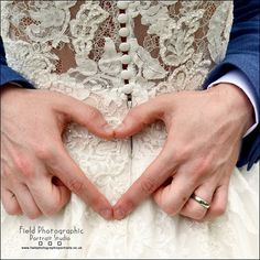 Love how this shot shows the detail in the dress #love #heart#wedding #horsleylodge #fieldphotographicportraits   From Field Photographic Portrait Studio   http://ift.tt/20TBije