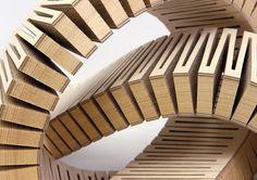 Dukta es un equipo de diseñadores industriales y carpinteros que han desarrollado (y patentado) un método innovador para deformar la madera hasta conseguir una respuesta tridimensional. Unas incisiones especiales dotan a las maderas de propiedades prácticamente textiles. #MWMaterialsWorld #Dukta