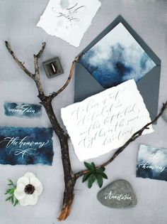 Indigo blue nature inspired wedding inspiration from Crimea via Magnolia Rouge
