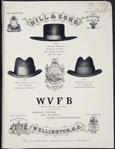 [C.] Hill & Sons, Hat and Cap Manufacturers, Wellington, N.Z. [Catalogue page 5. Cowboy hat, and Stetsons]. 1897.