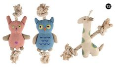 Simply Fido Natural Organic Canvas and Cotton Rope Animals