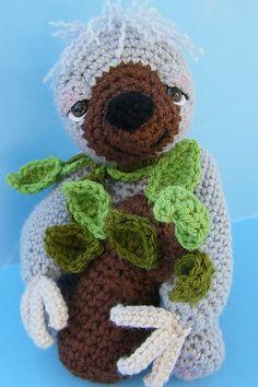 Simply Cute Sloth Toy Crochet Pattern by Teri Crews