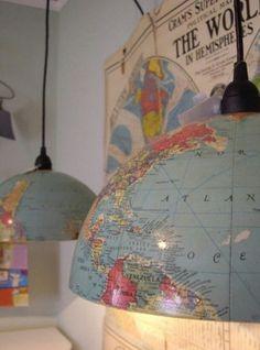 Wereldbol lamp