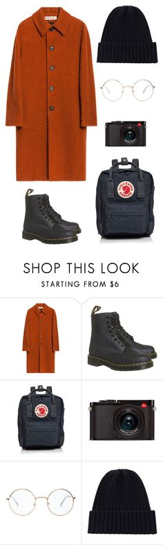"""""""Cozy outfit"""" by maja-kristiansson on Polyvore featuring Dr. Martens, Fjällräven, Leica and Forever 21"""