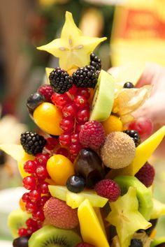 Albero di Natale con frutta