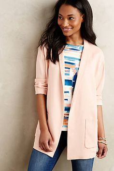 Blushed Long-Form Jacket