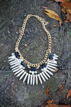 Bone Statement Necklace #bone #necklace #love - JC's Boutique - www.SHOPJCB.com