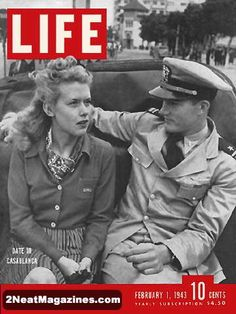 Original Life Magazine from February 1943 - Date in Casablanca Life Magazine, History Magazine, Magazine Photos, Casablanca, News Magazines, Vintage Magazines, Vintage Toys, Norman Rockwell, Magazine Front Cover