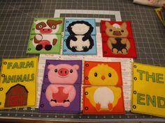 Ferme Animal Mix et Match calme Page livre Page par TinyCrafts