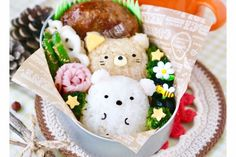 Apple Crisp Bars Recipe, Dessert Drinks, Dessert Recipes, Cute Lunch Boxes, Kawaii Bento, Cafe Food, Japanese Food, Food And Drink, Cooking