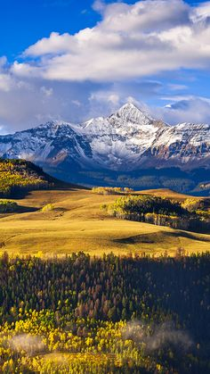 Wilson Mesa and Wilson Peak, Telluride, Colorado