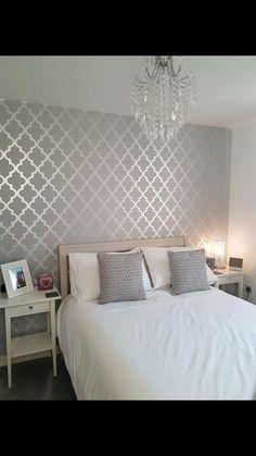 Accent Wall Bedroom, White Bedroom, Bedroom Decor, Master Bedroom, Bedroom  Ideas,