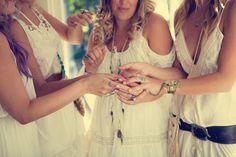 gorgeous bohemian beach gypsy wedding