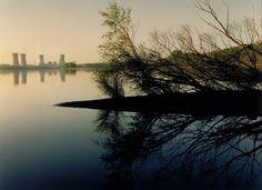 Three Mile Island Nuclear Plant, Susquehanna River, Pennsylvania, from the series Power Places, 1982 John Pfahl