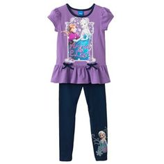 Disney Frozen Anna & Elsa Top & Leggings Set - Girls 4-6x #FrozenFunAtKohls