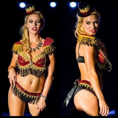 Red and Gold Sexy Ringleader Costume, Ringleader Outfit, Circus Performer, Halloween Costume