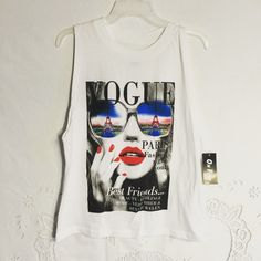 Vogue muscle shirt! Size medium! New with tags (: On fire Tops Muscle Tees