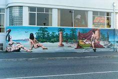 The Esplanade Tavern, New Brighton, Christchurch, New Zealand Christchurch New Zealand, New Brighton, Street Art, History, Graffiti, Sun, Historia, Graffiti Artwork, Street Art Graffiti