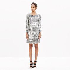 """A simple silk dress with a cool exposed back zip. The bold geometric print was inspired by African textiles. <ul><li>Waisted.</li><li>Falls 36"""" from shoulder.</li><li>Silk.</li><li>Dry clean.</li><li>Import.</li></ul>"""