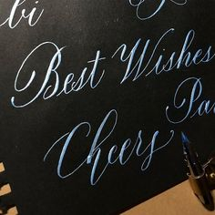 Best Wishes  #lettering #calligraphy #handlettering #goodtype #typespire #typegang #art #design #drawing #handdrawn #handwritten #letters #copperplate #handmade #レタリング #カリグラフィー #アート #デザイン #書 #つけペン